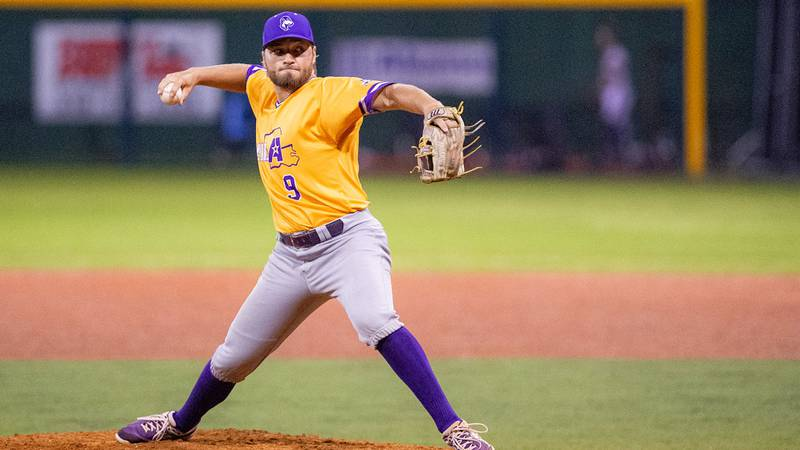 Austin Manuel picked up a save in game one, putting out a seventh inning fire, and earned a win...
