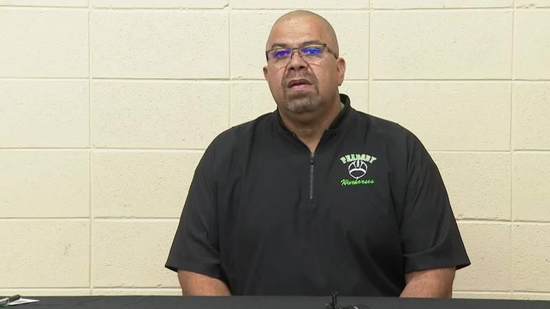Peabody's Coach Marvin Hall