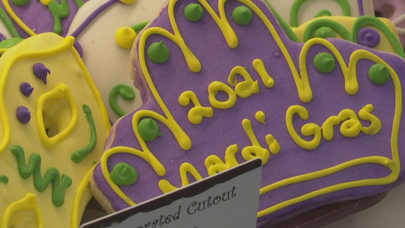 Mardi Gras King Cake from Atwood's Bakery in Alexandria, La.