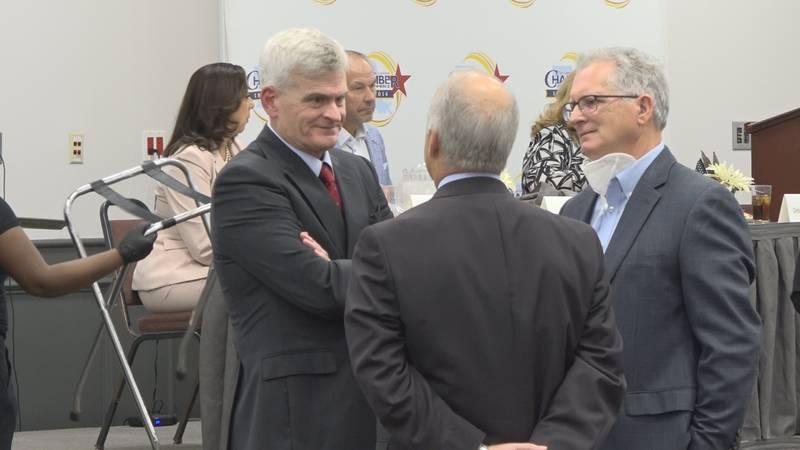 Louisiana Senator Bill Cassidy at the Alexandria Convention Center in Alexandria, La. on...