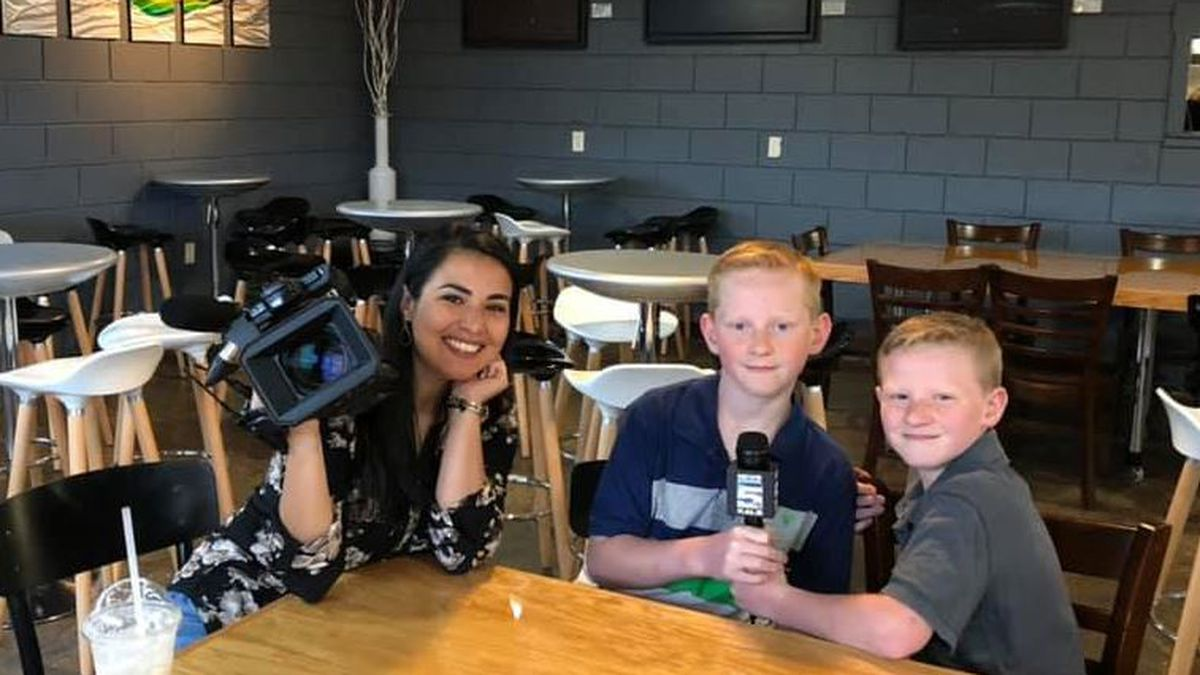 Austin and Anden Wilson have 'Lunch with Lydia' as part of Mt. Bethel's online auction to raise money for Relay for Life last month.<br />(KALB)