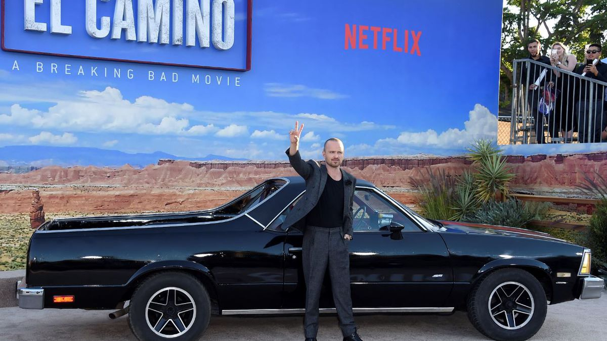 "Cast member Aaron Paul arrives at the Los Angeles premiere of ""El Camino: A Breaking Bad Movie,"" at the Regency Village Theatre, Monday, Oct. 7, 2019, in Westwood, Calif. 
