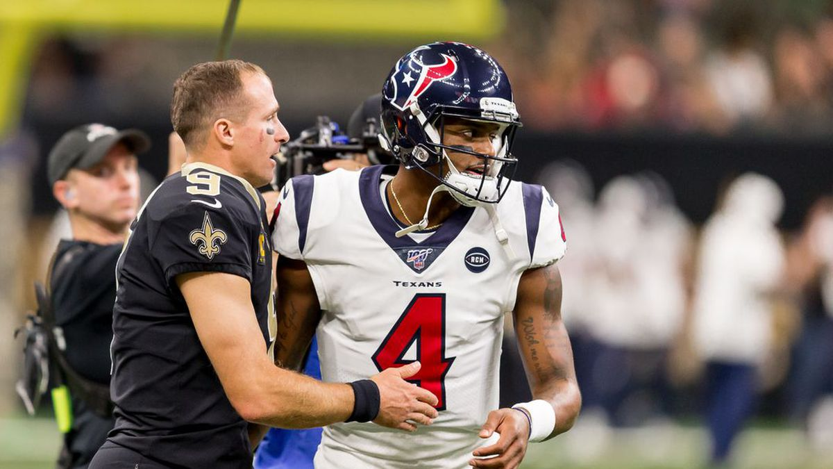 Drew Brees and the Saints will meet up with Deshaun Watson and the Texans on Aug. 29. (Source:...