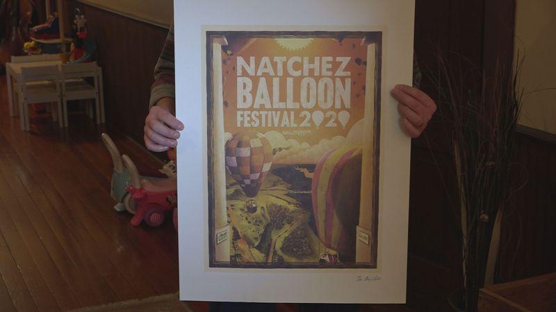 Alex Felter wins Natchez Balloon Festival 2020 poster competition.