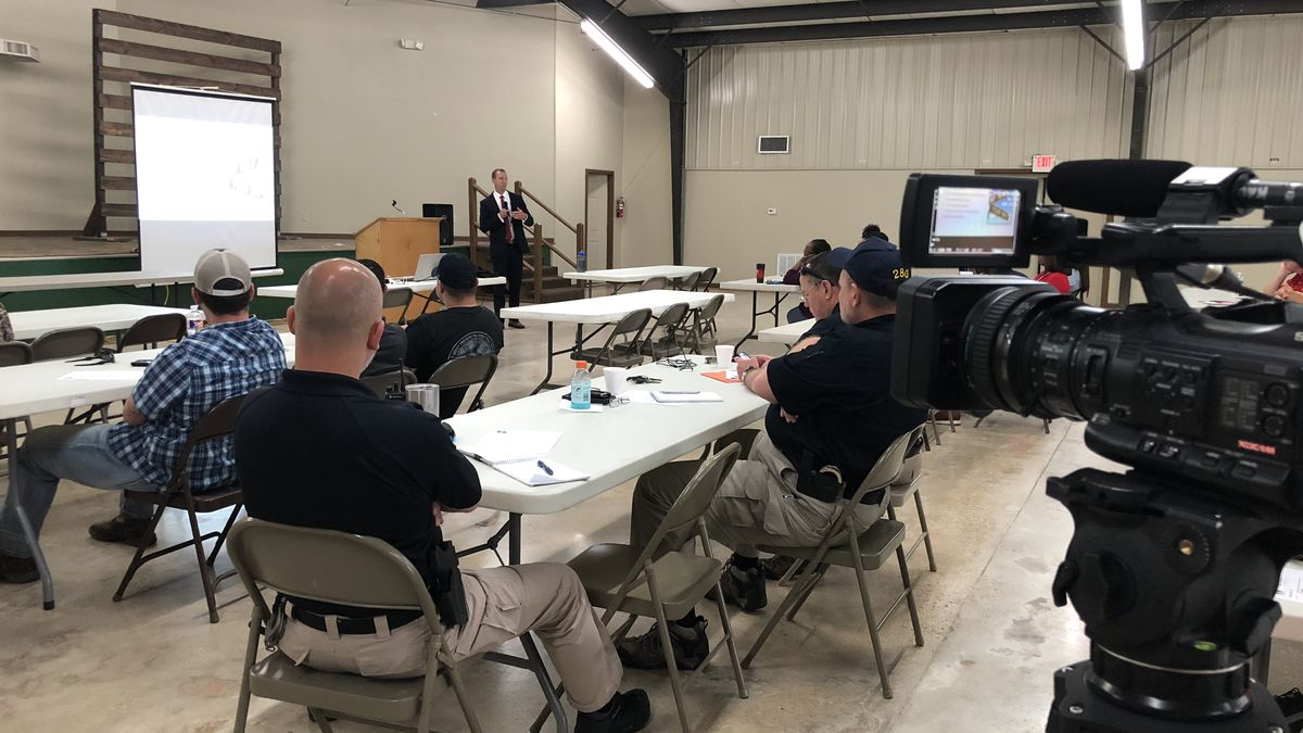 The Vernon Parish Sheriff's Department and other agencies attended a training seminar about child abuse and neglect hosted by the Children's Advocacy Network on Tuesday.<br />(KALB)