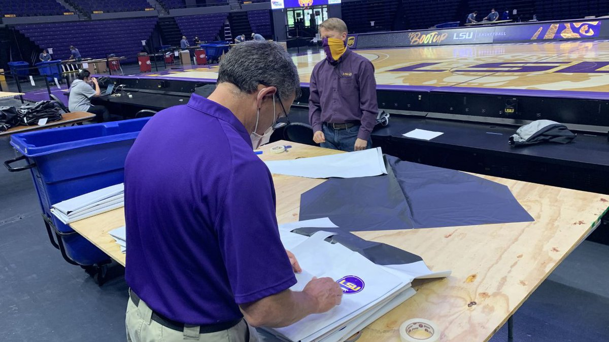 LSU is now using the PMAC to manufacture personal protective equipment (PPE) for front-line...