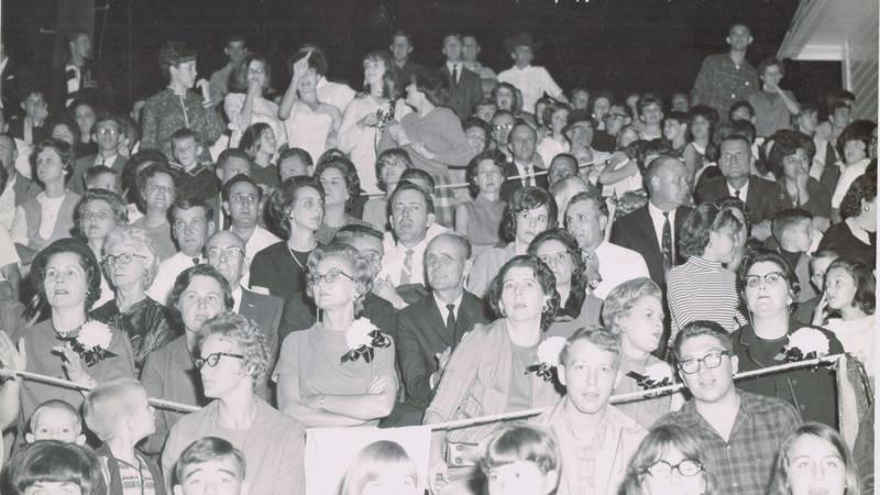 File photo of a crowd at an old game between Leesville and DeRidder.