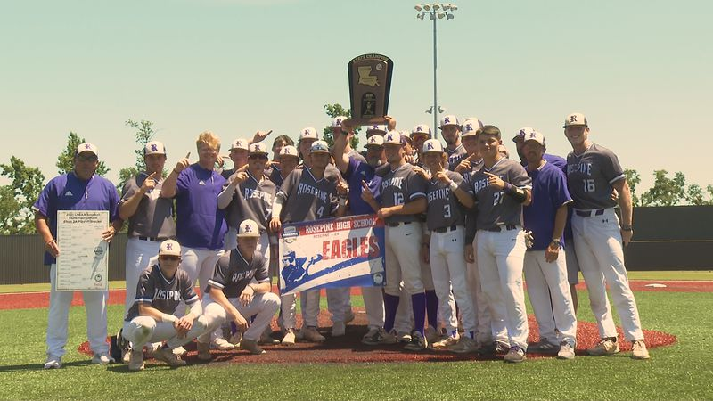 The Rosepine Eagles grab their first State Championship Title in school history.