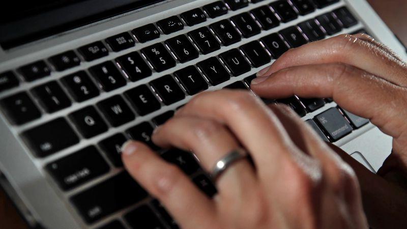 File photo of a laptop keyboard.