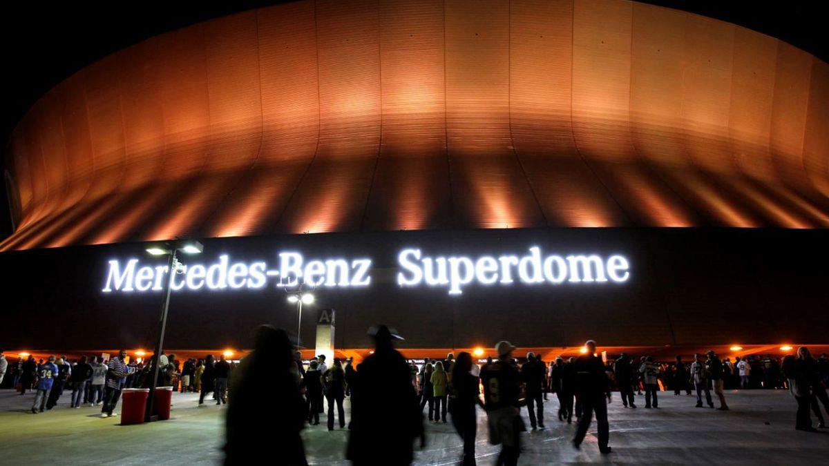 The exterior of the Mercedes-Benz Superdome, Sunday, Dec. 4, 2011. | Source: AP Photo / Gerald Herbert