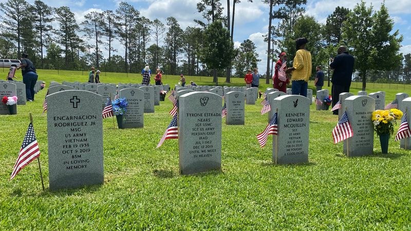 the Louisiana Department of Veterans Affairs held their Memorial Day ceremony at the Central...