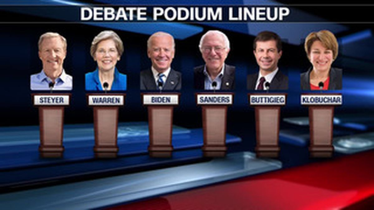 Six of the Democratic presidential candidates meet for the final debate before the Iowa Caucuses on Tuesday. | Source: CNN