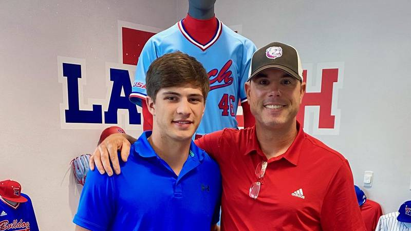 Tioga pitcher Haydan Toal announced his commitment to Louisiana Tech on Tuesday, June 8.