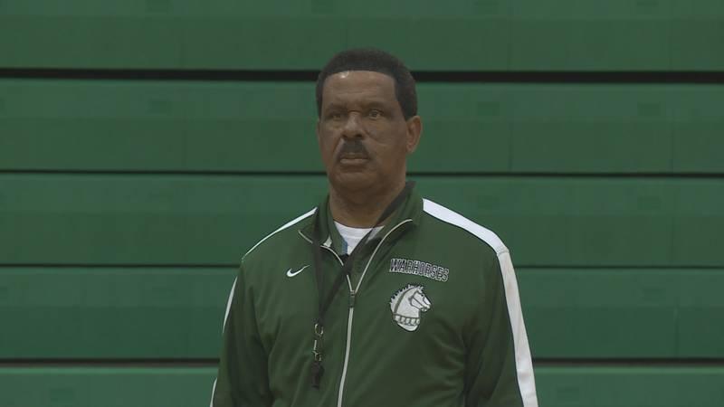 Peabody's basketball coach Charles Smith