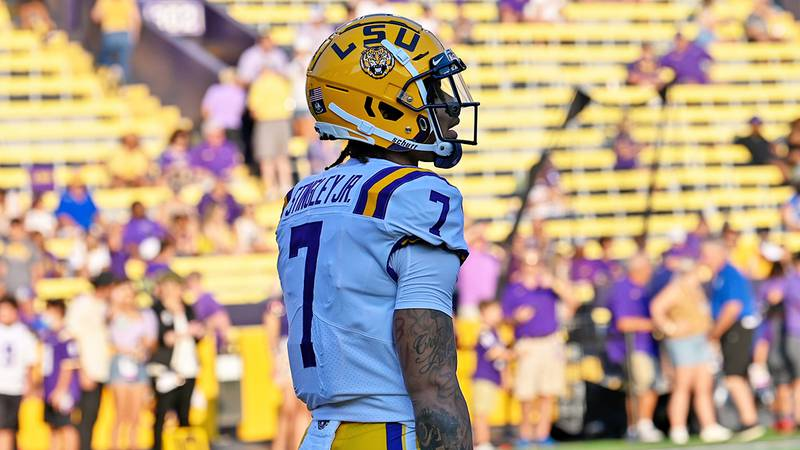 LSU cornerback Derek Stingley Jr. (7)
