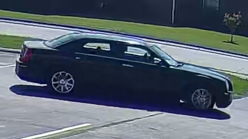 The Alexandria Police Department believes this Chrysler 300 belongs to a suspect wanted for the...