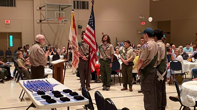 Friday night, nine young men received the honor of Eagle Scout.