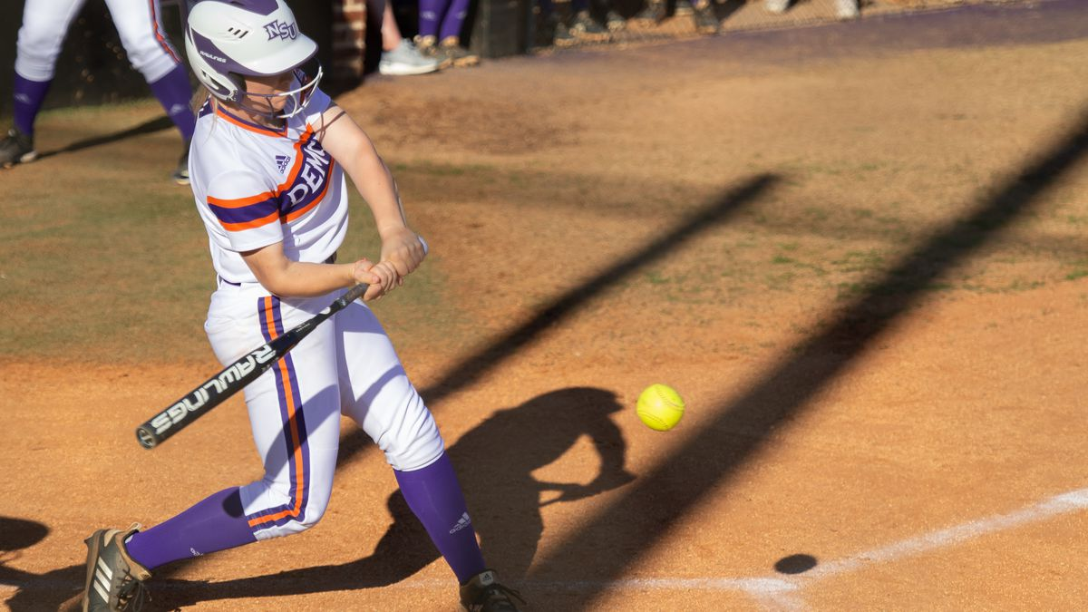 NSU's Kaitlyn St. Clair and the Lady Demons open the season at ULM on Sunday.