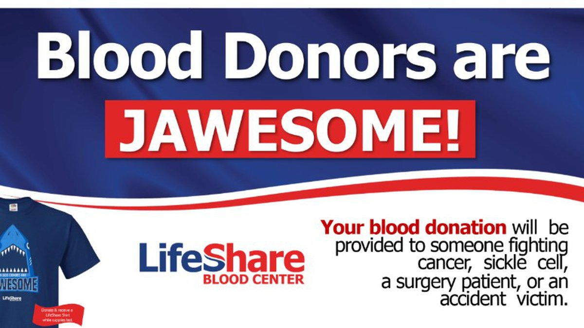 Be jawesome and donate blood