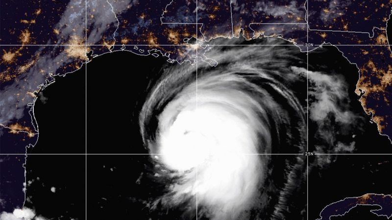 This satellite image released by the National Oceanic and Atmospheric Administration (NOAA)...