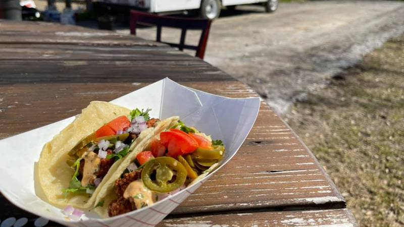 """""""That's Nachobizness"""" Food Truck serves up street tacos at the Main Street Food Truck Park in..."""