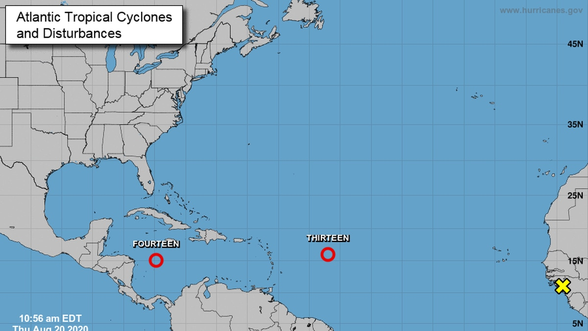 Two new tropical depressions have formed in the Atlantic and could be on tracks toward the United States.