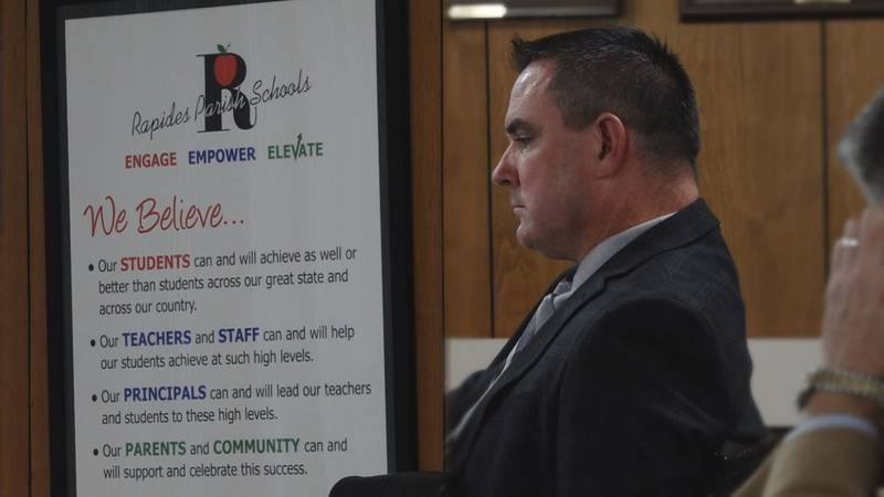 Rapides Parish Superintendent Jeff Powell at the Rapides Parish School Board meeting on October...