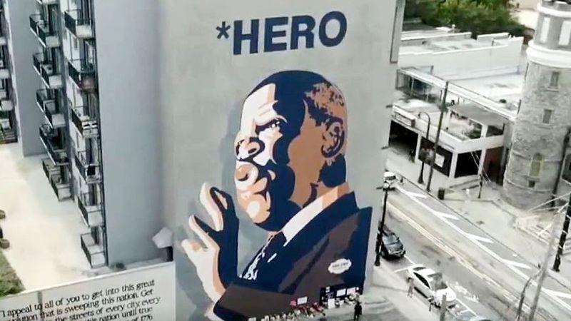 This mural in Atlanta honors civil rights leader John Lewis.