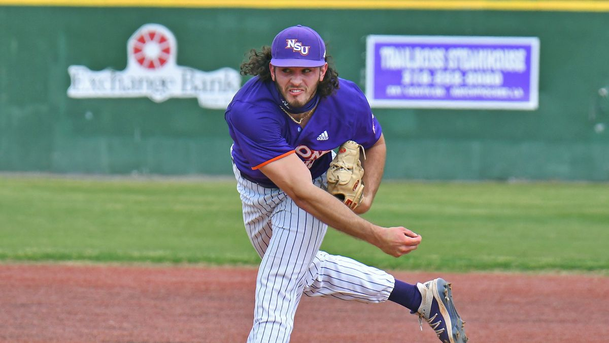 Levi David delivers a pitch against South Alabama on March 27 in Natchitoches.