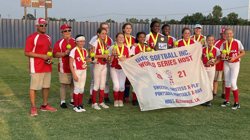 Ward 10 took home the Dixie League World Series in the ponytails x-play bracket.