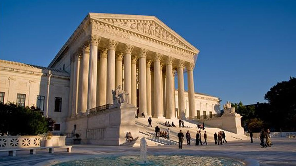 This image shows the Supreme Court building in Washington, D.C.