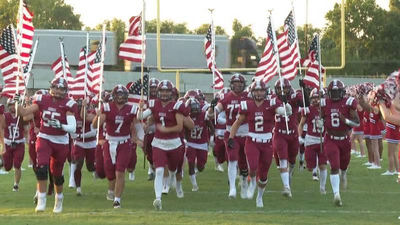 Pineville Rebels taking the field