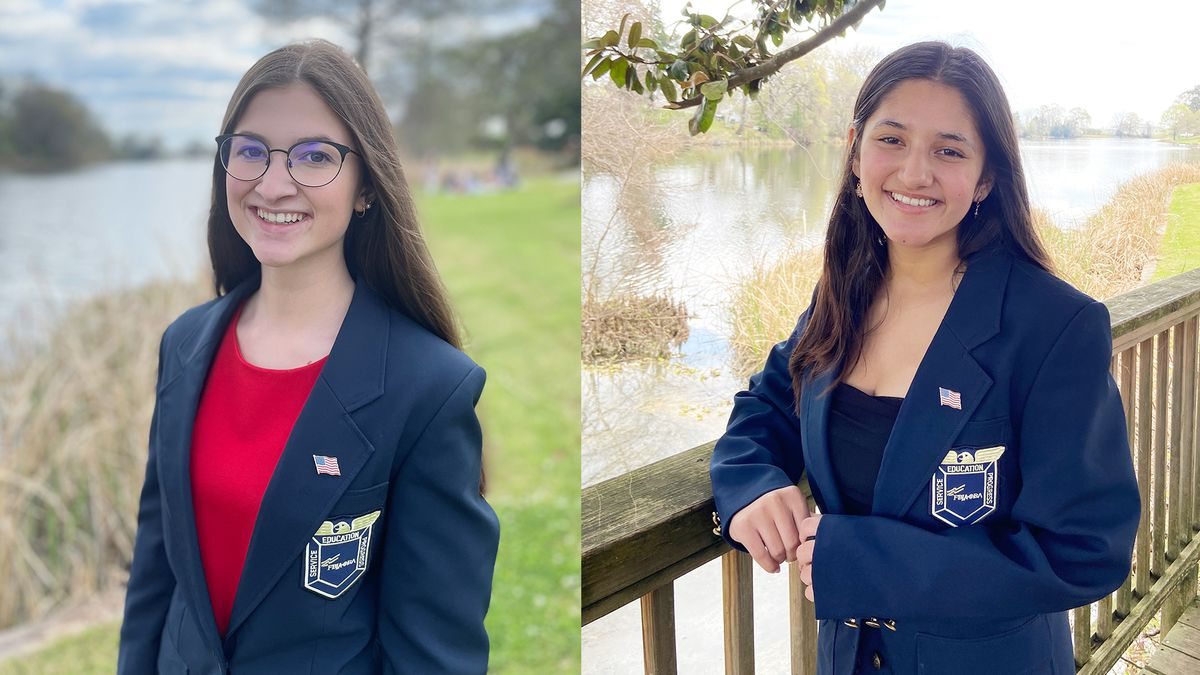 Newly elected Louisiana State FBLA President, Julia Ferrell, and District III vice president,...
