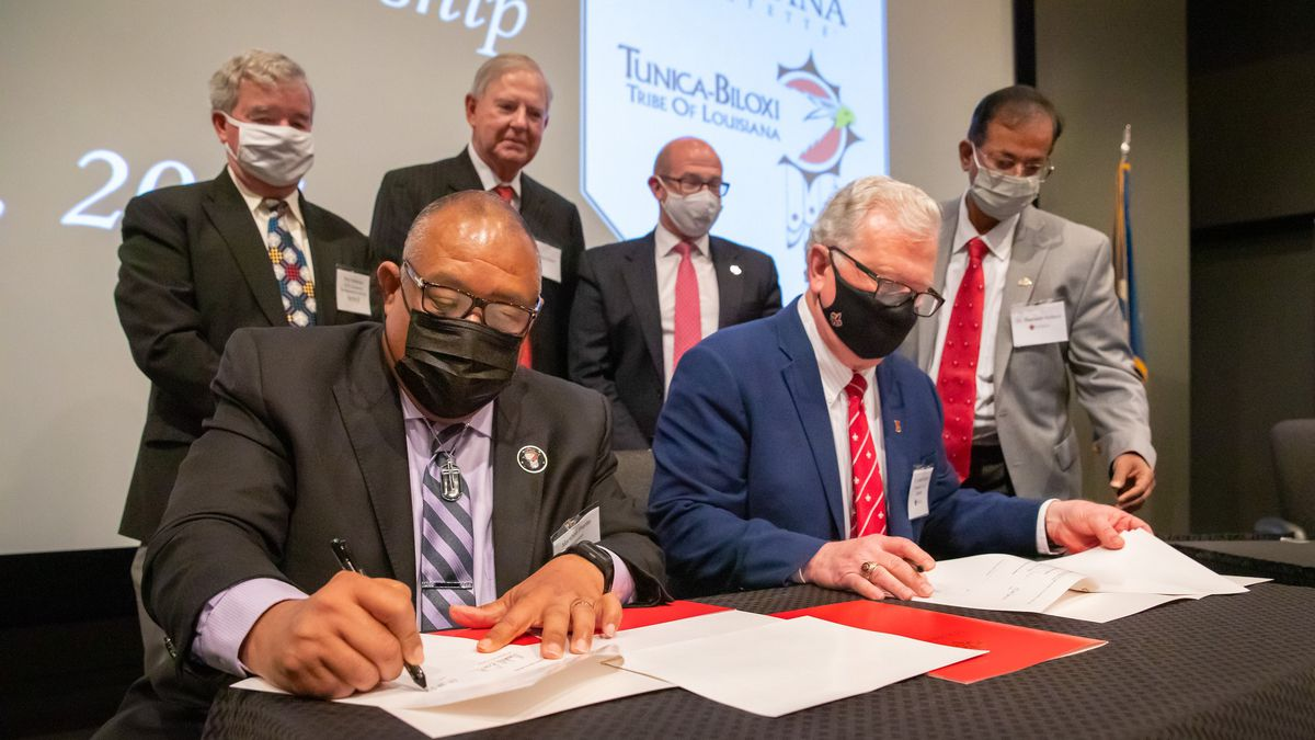The University of Louisiana at Lafayette and the Tunica-Biloxi Tribe of Louisiana will...