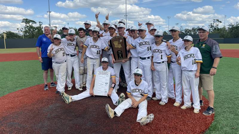 The Hicks Pirates have won the Class C State Championship.