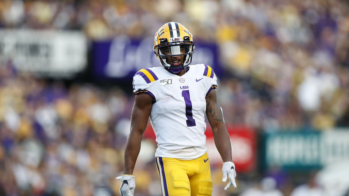LSU wide receiver Ja'Marr Chase (1) during an NCAA football game against Georgia Southern, Saturday, August 31, 2019, in Baton Rouge, La. (AP Photo/Tyler Kaufman)
