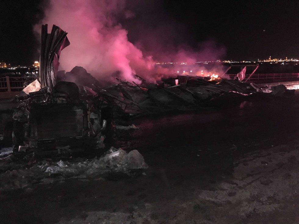 Photos from authorities on the scene.