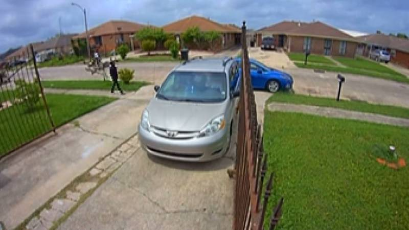 A surveillance camera nearby captures the gunman, who appears to be getting ready to commit the...