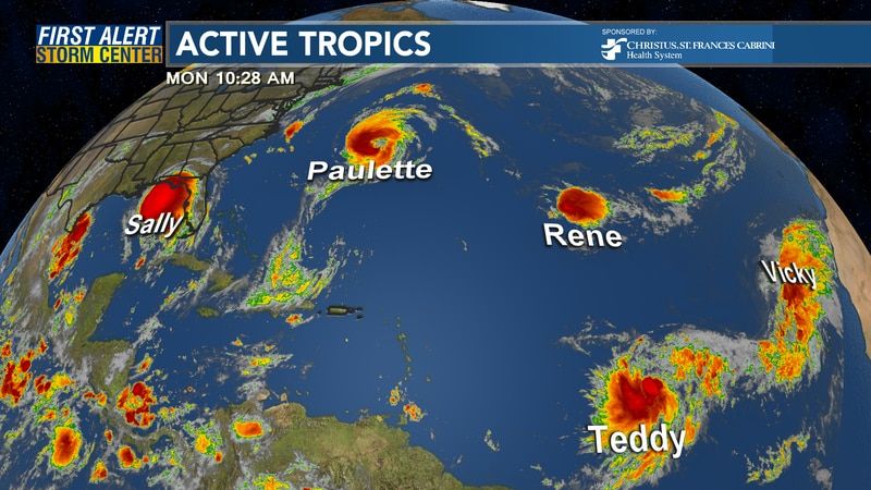 There are currently 5 tropical cyclones the National Hurricane Center is issuing advisories on...