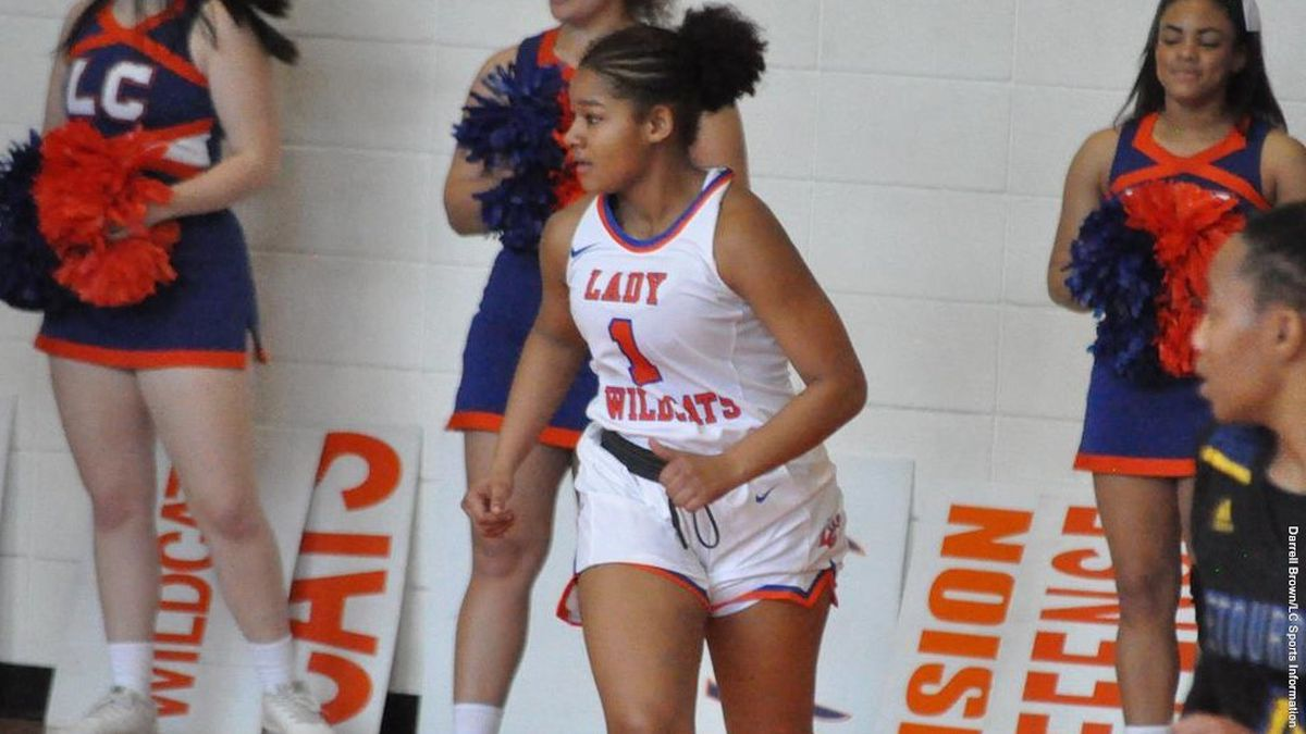 Fr. G Jamaica James hit all 3 3FGs she attempted vs. McMurry. Credit: LC Sports Information
