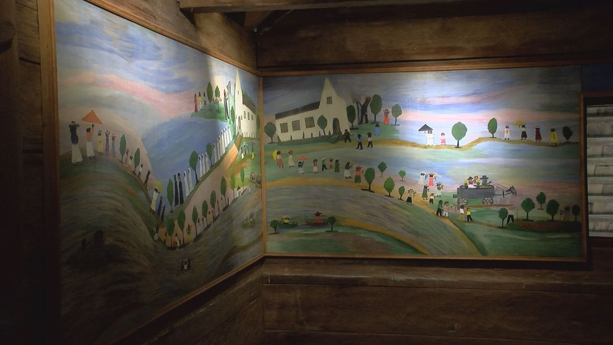 Tucked away on a plantation close to Natchitoches, houses the artwork of arguably one of Louisiana's most famous artists: Clementine Hunter, her work known around the world. | Image Credit: KSLA