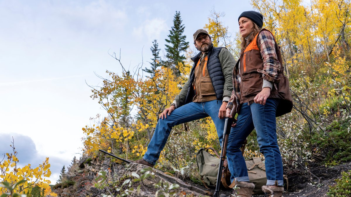 This image released by Focus Features shows Demián Bichir, left, and Robin Wright in a scene...