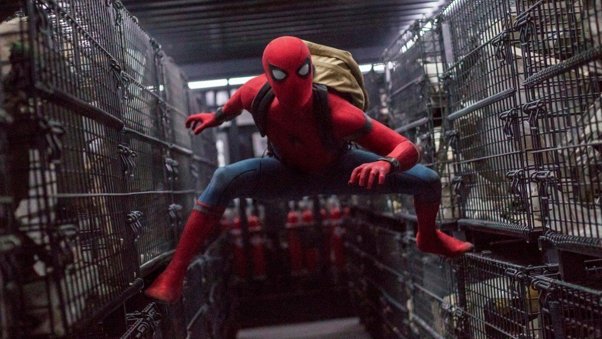 """This image released by Columbia Pictures shows Tom Holland in a scene from """"Spider-Man:..."""