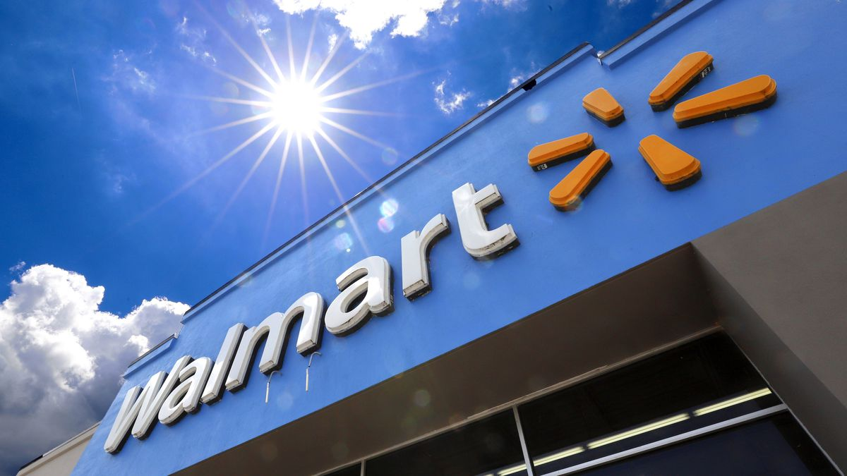 FILE - This June 25, 2019, file photo shows the entrance to a Walmart in Pittsburgh. (AP...