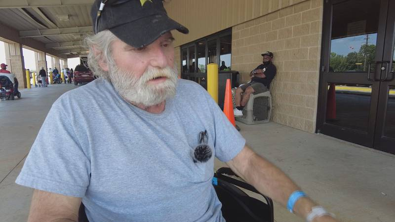 Nursing home resident Wade H. was rescued from a warehouse in Tangipahoa Parish after Hurricane...
