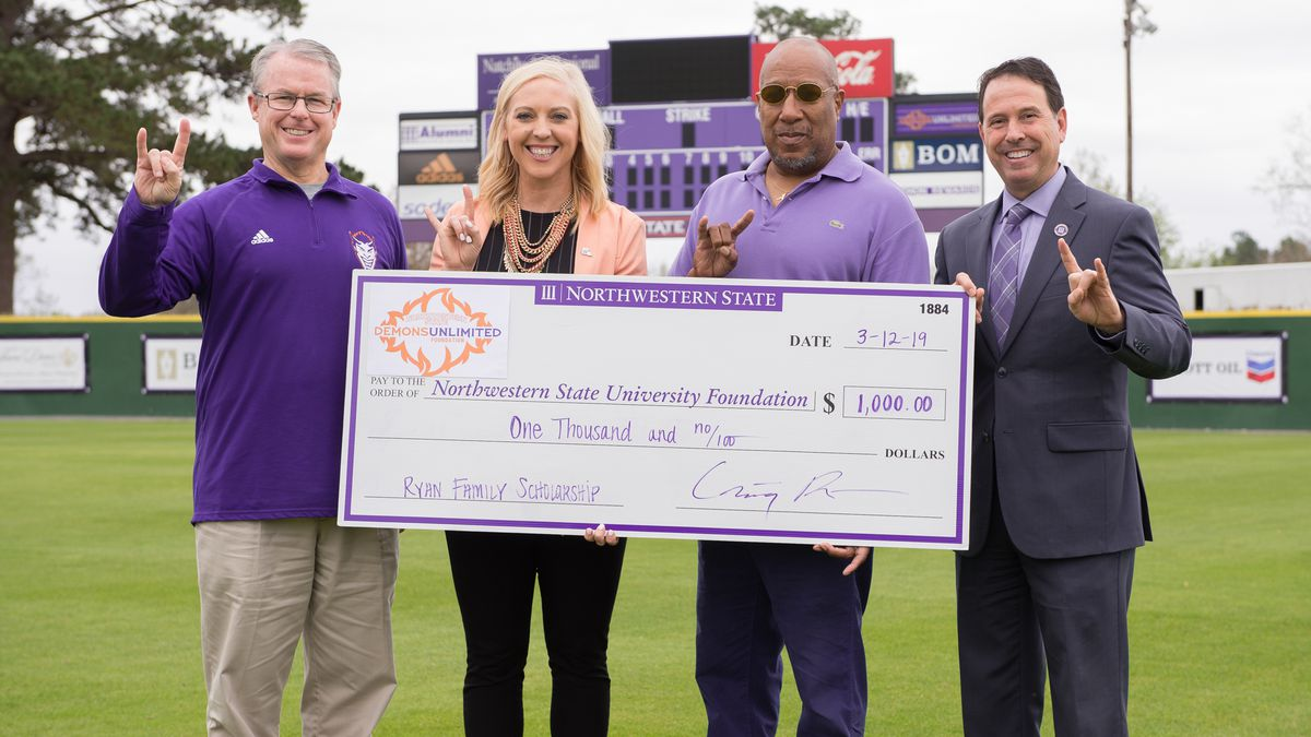 (Left to right) NSU Director of Athletics Greg Burke, Deputy Athletic Director Dr. Haley...