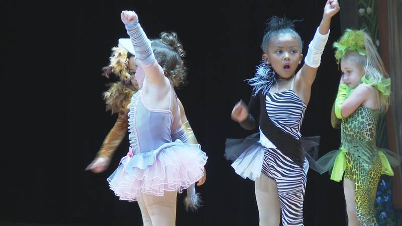 More than 200 children showed off their dance talents at Tioga High School for the 18th annual...