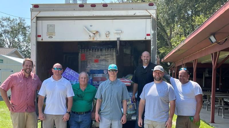 Trinity Baptist Church in Marianna, Fl helps out in Ida recovery efforts in Denham Springs, La.