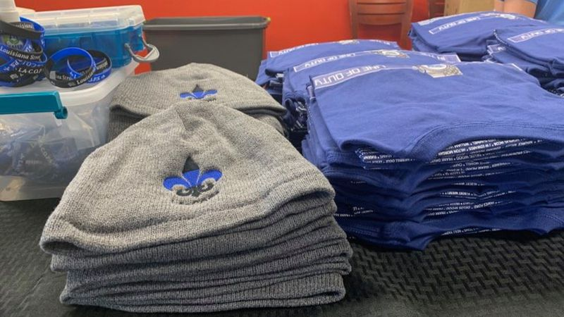 Group sells t-shirts and other items to support families of fallen law enforcement officers.