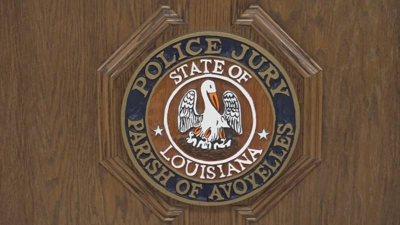 A logo for the Avoyelles Parish Police Jury on October 21, 2021.